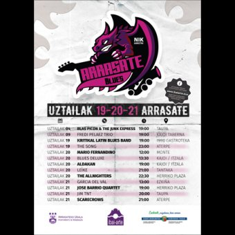 Festival Arrasate Blues 2019 en Arrasate/Mondragón